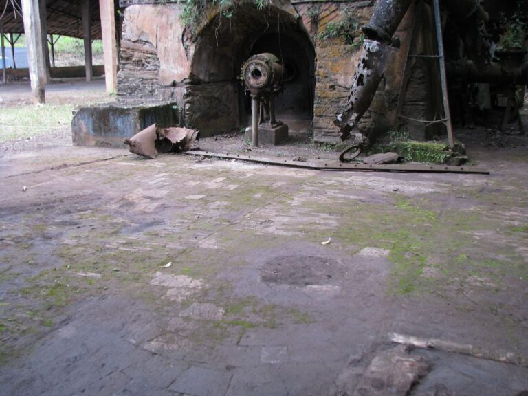 Revestimento de piso em tijoleria, original de 1893. Fonte: Acervo Henrique Piló, 2010.